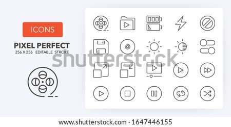 user interface thin line icon