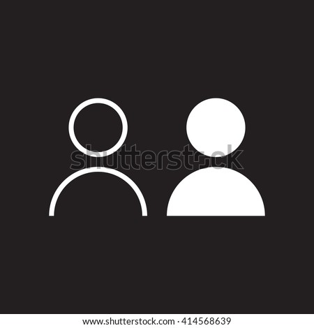user line icon, outline and solid vector illustration, linear pictogram isolated on black