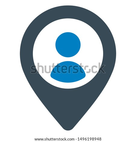 User location icon. vector graphics.