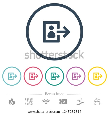 user logout flat color icons in
