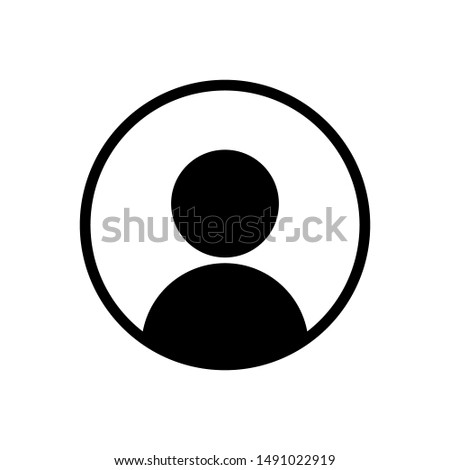 User profile icon. Abstract modern vector design element. Flat social network friend avatar.