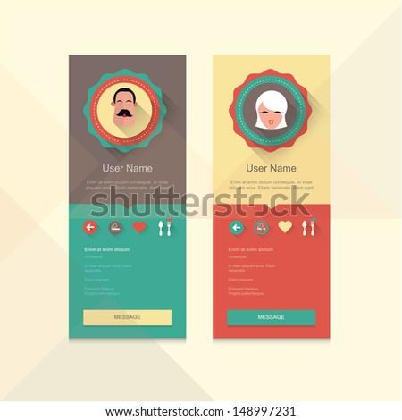 User profile information badge dating