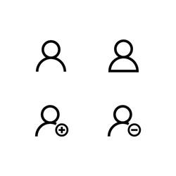 User profile login icon symbol vector eps10