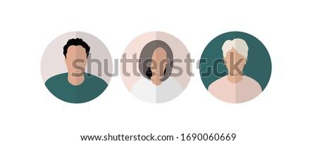 user profile, UX vector persona, avatar Foto stock ©