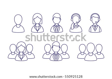 User profile vector icons set