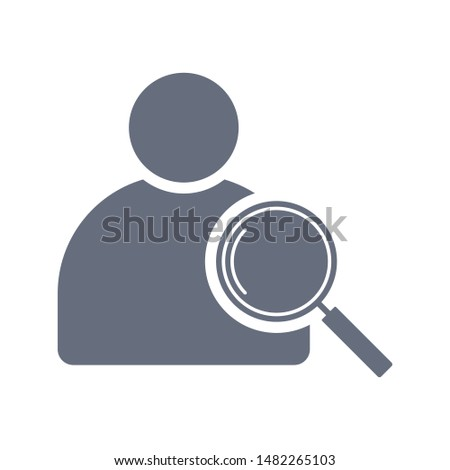 User search icon vector. Magnifying glass or search icon. Search icon vector.