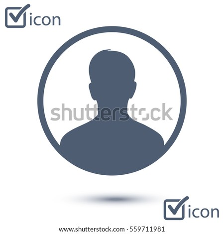 User sign icon. Person symbol. Human avatar.Flat style.