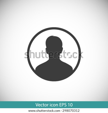 User sign icon. Person symbol. Human avatar.Flat style. EPS 10.