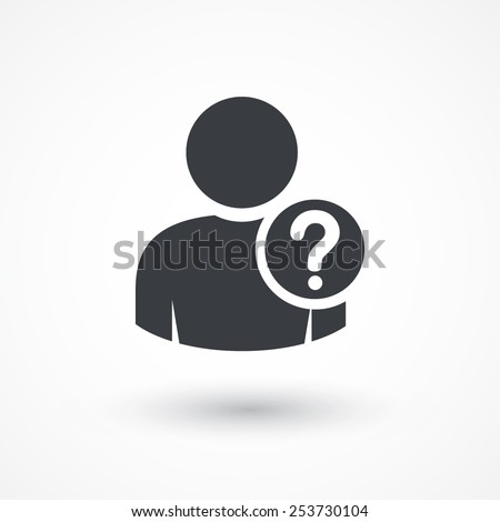 user silhouette with question