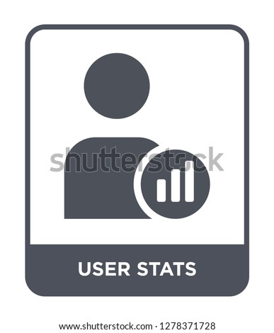 user stats icon vector on white background, user stats trendy filled icons from Business and analytics collection, user stats vector illustration