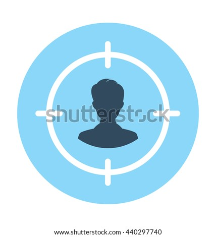 User Target Vector Icon #440297740