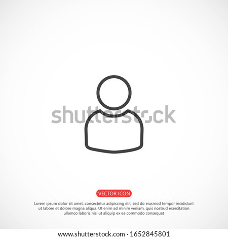 User vector icon in trendy isolated on grey background. User vector icon symbol for your web site design.