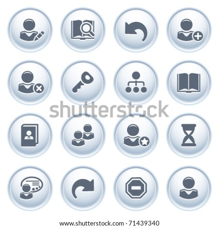 Users web icons on buttons.