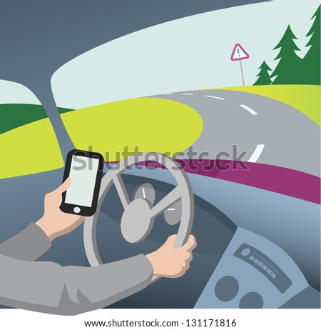 illustration essay on texting and driving