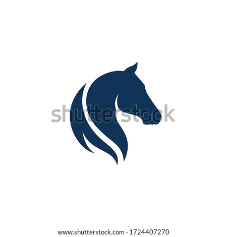 using the concept of a horse's head Foto stock ©