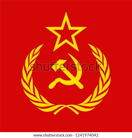 ussr communism icon with hammer