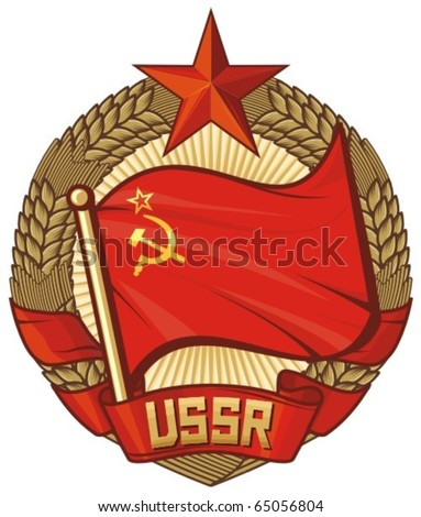 ussr flag  soviet union  wreath