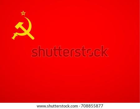 ussr flag vector  red soviet