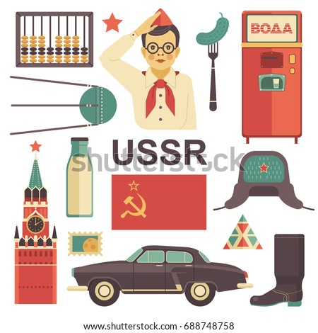 ussr icons set vector