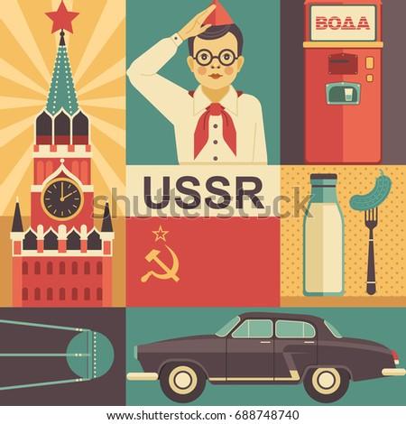 ussr retro poster concept