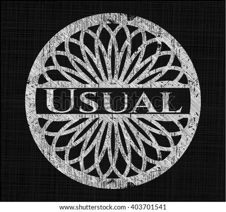 Usual chalk emblem