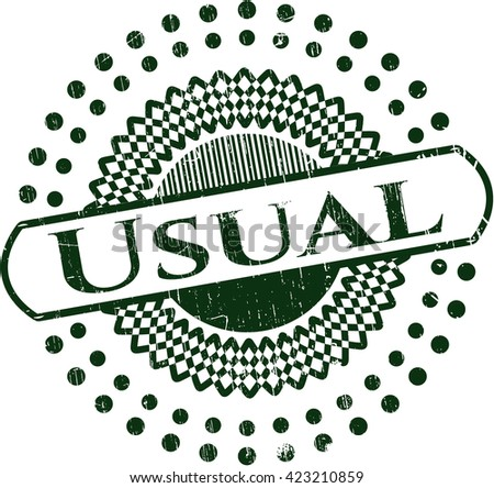 Usual rubber grunge texture stamp