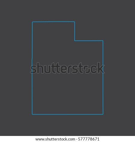 utah map blue outline stroke