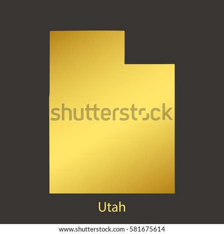 utah map border with golden