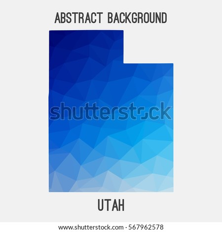 utah map in geometric polygonal