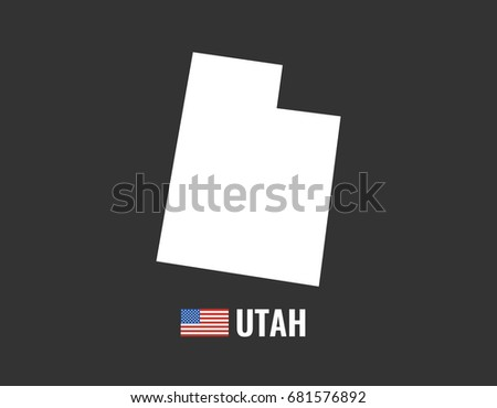 utah map isolated on black