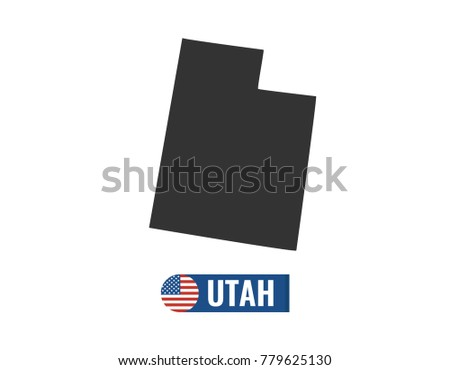 utah map isolated on white