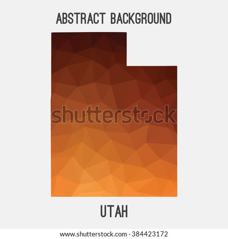 utah state map in geometric