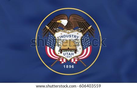 utah waving flag utah state