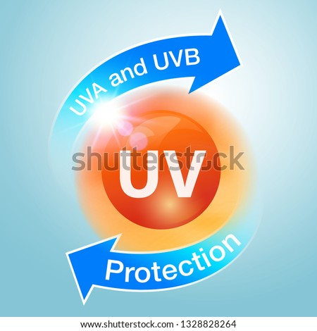 uv protection icons are used to