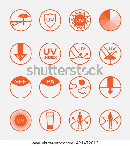 uv protection logo vector and