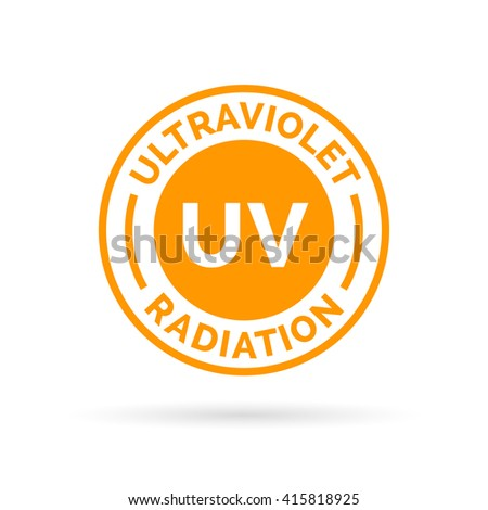 uv rays icon stamp design