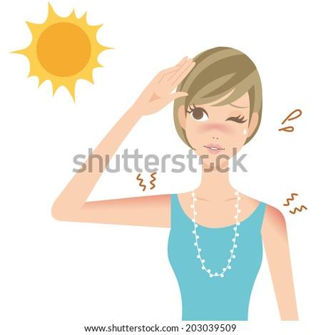 uv sunburn illustration for