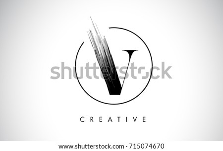 letter v logo design template download free vector art stock