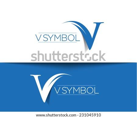 V Company Logo Company Vector Logo An...