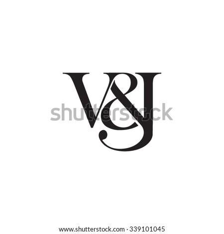 V&J Initial logo. Ampersand monogram logo Stock fotó ©