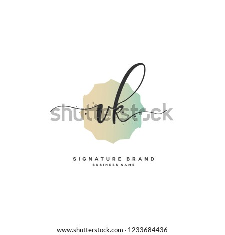 V K VK Initial logo template vector Stock fotó ©