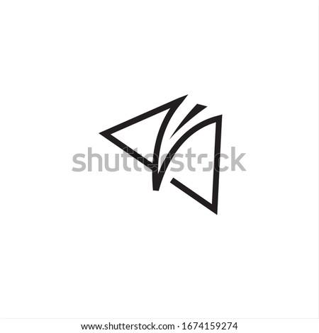 V letter road way logo creative design  Stock fotó ©