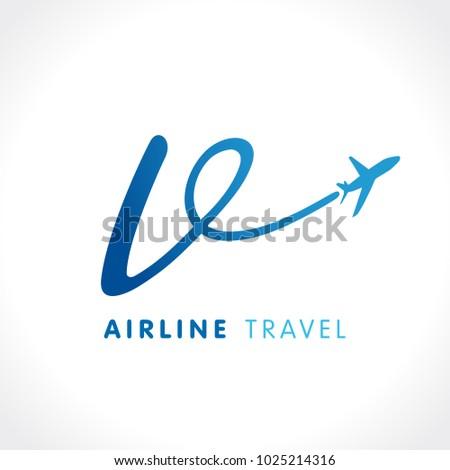"V letter transport travel company logo. Airline business travel symbol design with letter ""v"". Victory travel vector logo template"