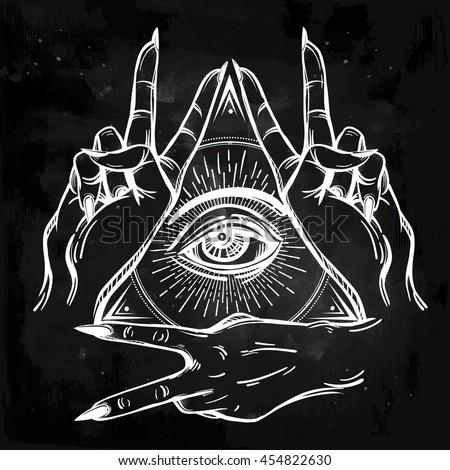 v sign hand flash tattoo