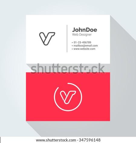 v simple letter minimal