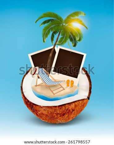 vacation concept. palm tree ...
