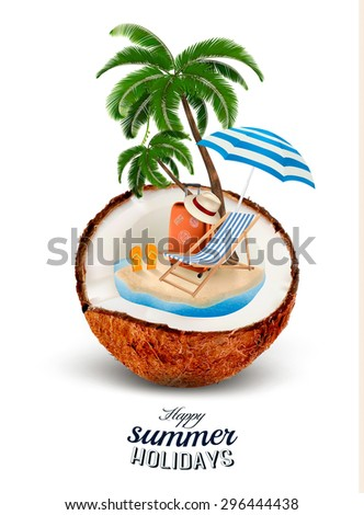 vacation concept palm tree