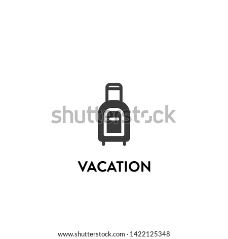 vacation icon vector. vacation vector graphic illustration