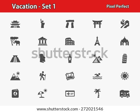 vacation icons professional