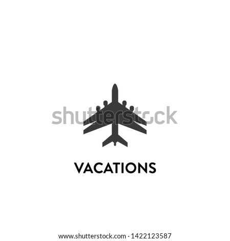 vacations icon vector. vacations vector graphic illustration